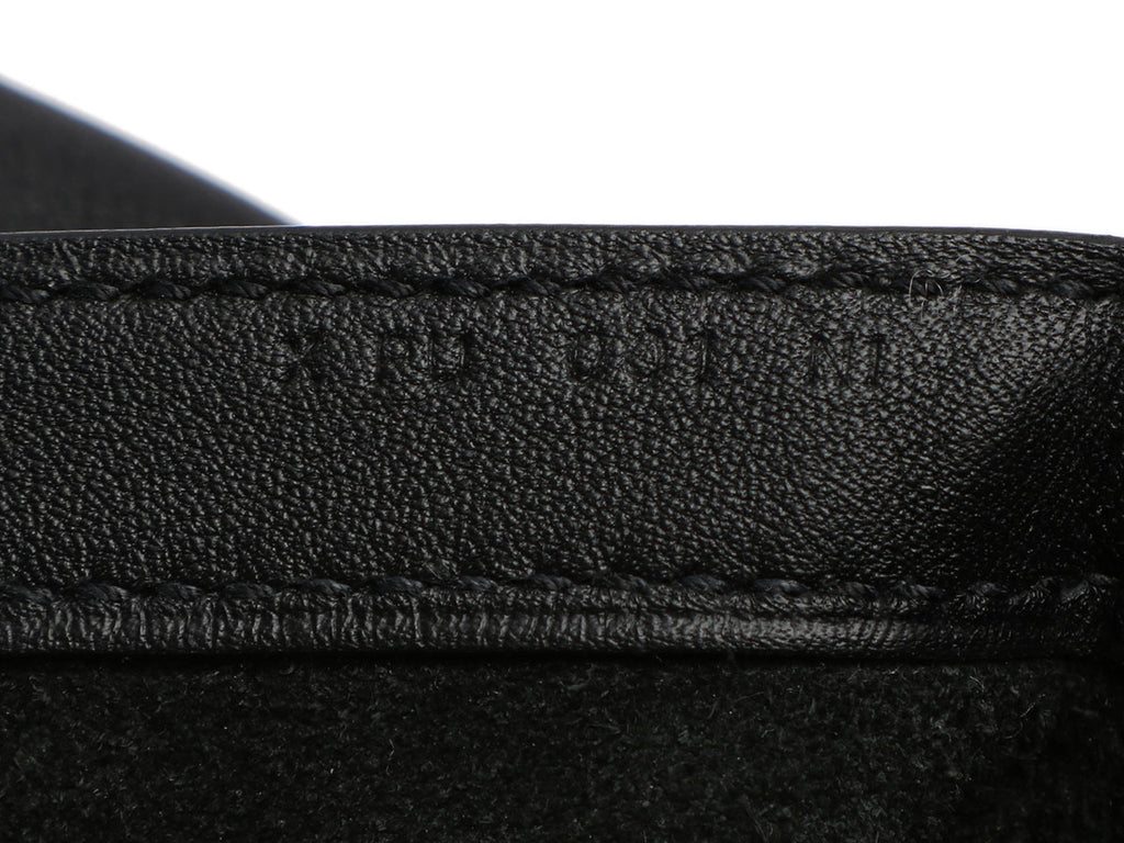 Hermès Black Tri-Leather Pochette Virevolte 35