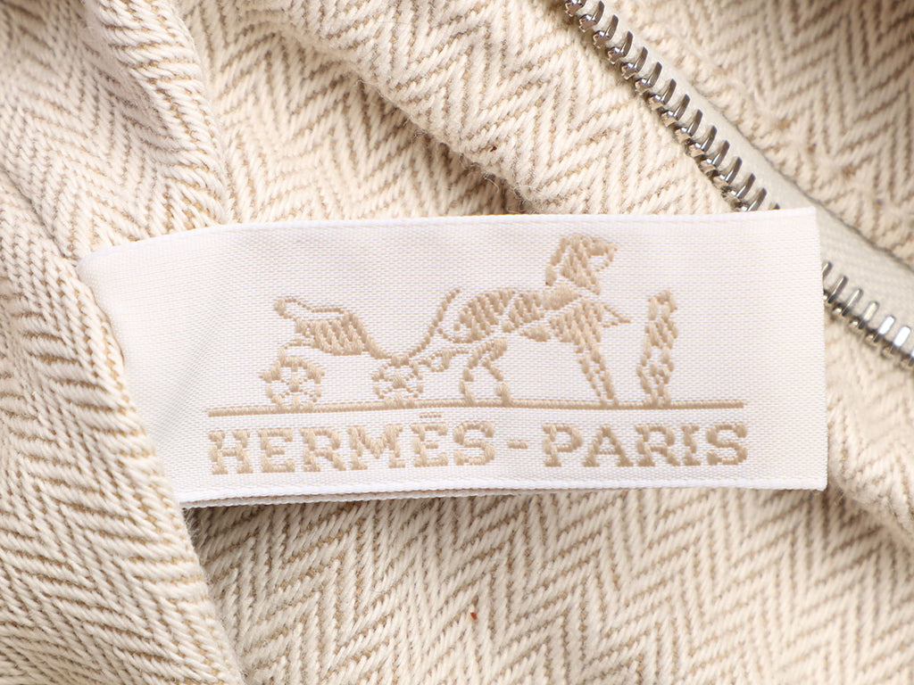 Hermès Canvas Toile and Barenia Natural Fourbi Bag Insert