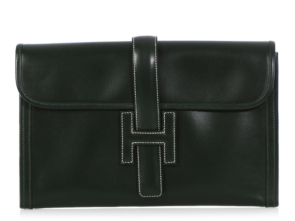 Hermès Green Box Leather Jigé PM