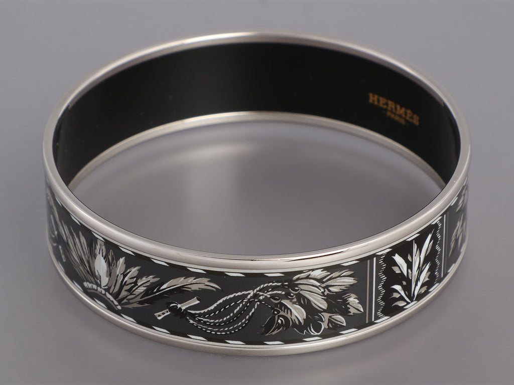 Hermès Wide Enamel Brazil Bangle