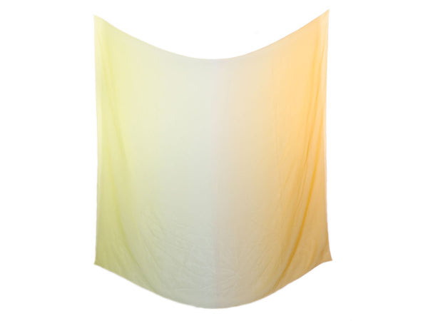 Hermès Yellow Ombre Mousseline Shawl