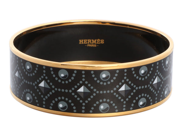 Hermès Wide Collier de Chien Enamel Bangle