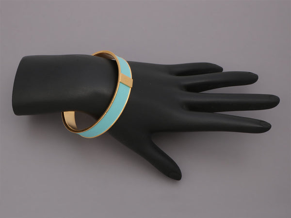 Hermès Narrow Kawaii 07 Turquoise Swift Bangle 62