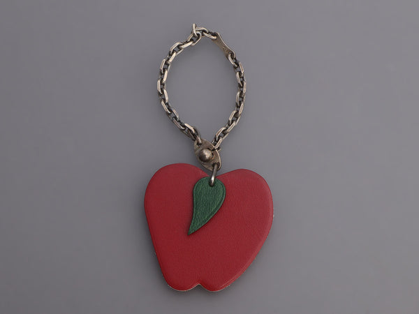 Hermès Box Calfskin Apple Key Ring/Bag Charm