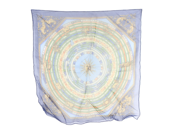 Hermès Astrologie Mousseline Pocket Square