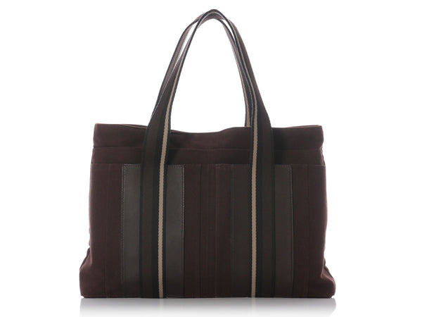 Hermès Brown Canvas Sac Troca Horizontal MM