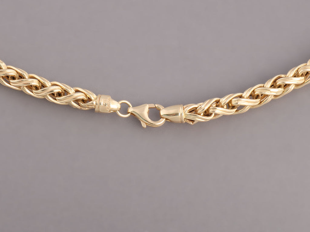 14K Yellow Gold Wheat Chain