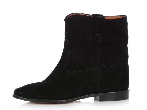 Isabel Marant Black Suede Crisi Ankle Boots