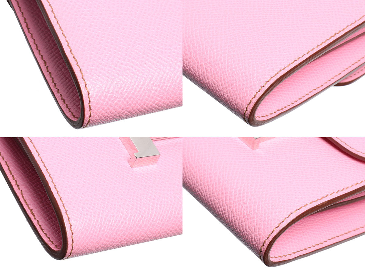 Herm s Pink Confetti Mini Constance Wallet