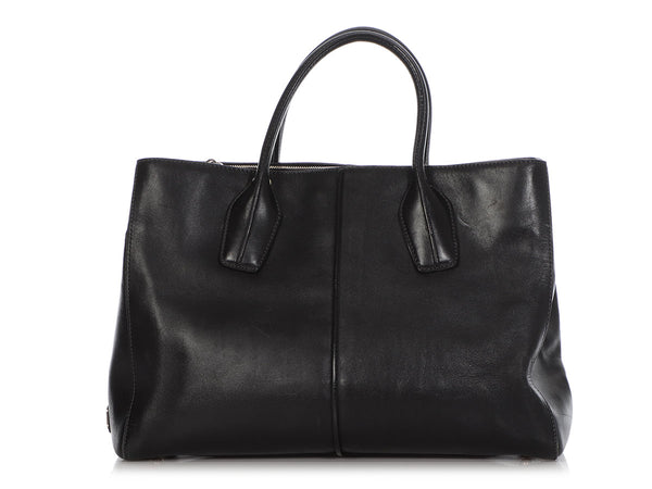Tod's Black D-Bag Tote