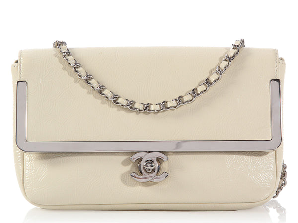 Chanel Cream Patent Crossbody Bag