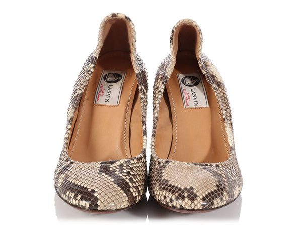 Lanvin Natural Snakeskin Pumps
