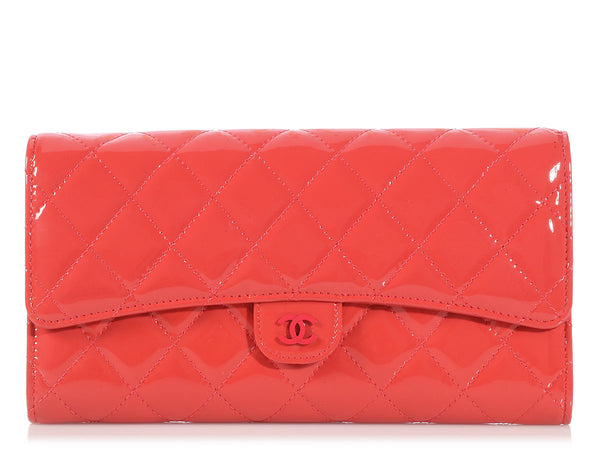 Chanel Pink Patent Travel Wallet