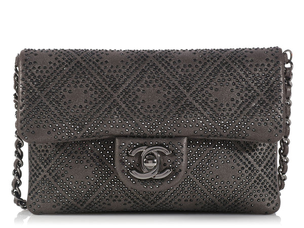 Chanel Gray Studded Mini Crossbody
