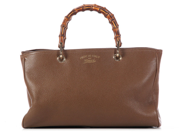 Gucci Maple Brown Bamboo Shopper