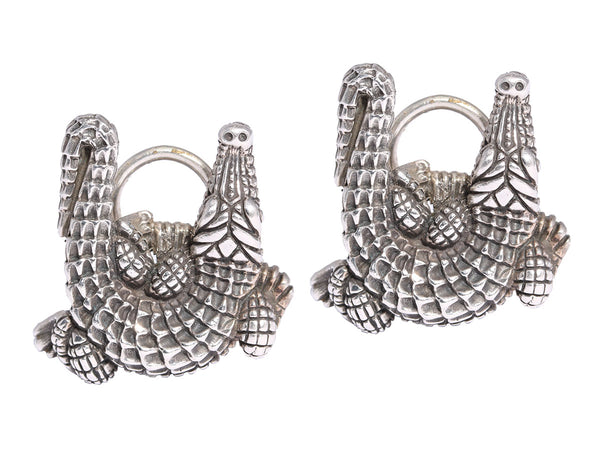 Kieselstein-Cord Alligator Earrings