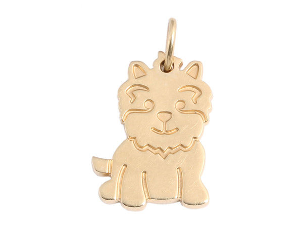 Tiffany & Co. 18K Yellow Gold Scottie Dog Charm