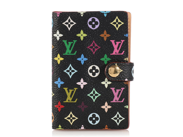 Louis Vuitton Black Multicolor Carnet Case