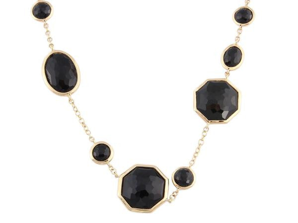 Ippolita Gold and Onyx Crazy 8's Necklace