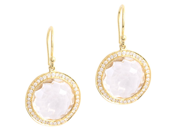 Ippolita Gold, Crystal, and Diamond Lollipop Earrings