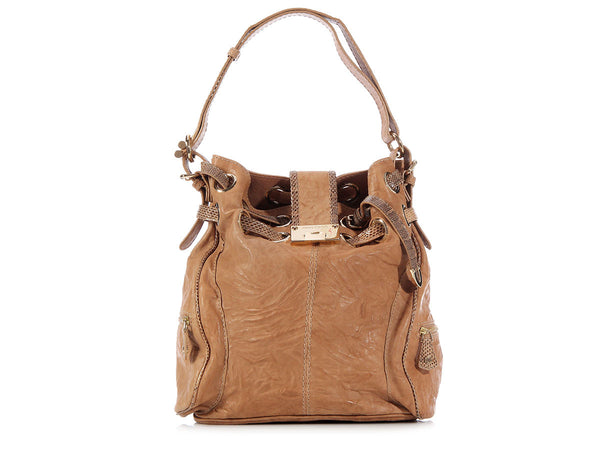 Jimmy Choo Beige Ring Bag
