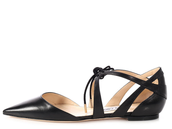 Jimmy Choo Black Lyssa Flats