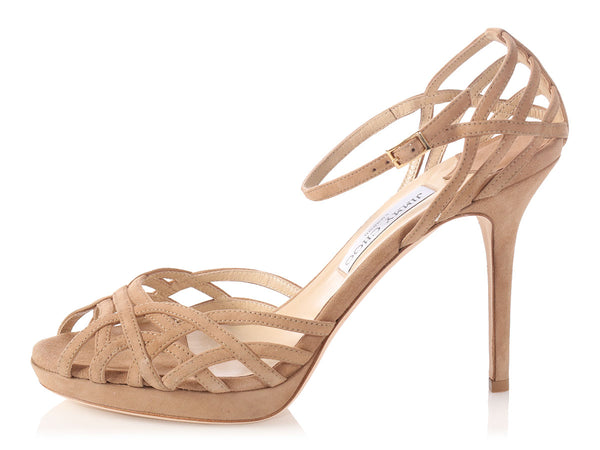 Jimmy Choo Brown Suede Strappy Sandals