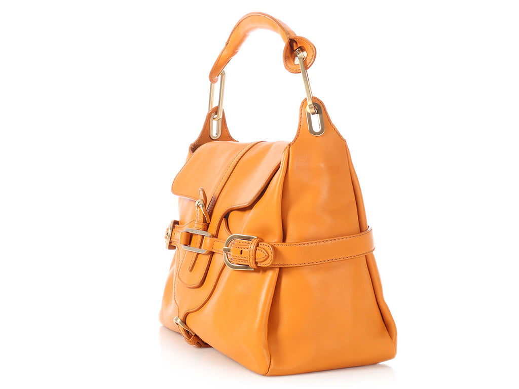 Jimmy Choo Orange Tulita Handle Bag