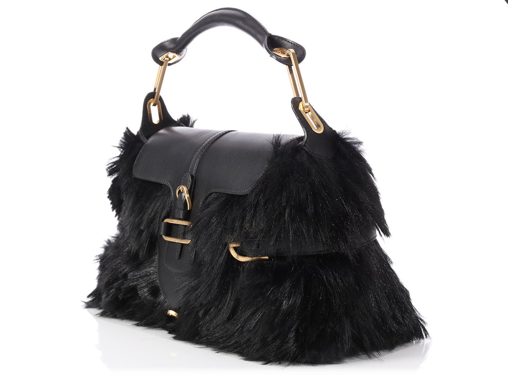 Jimmy Choo Black Fur Tulita