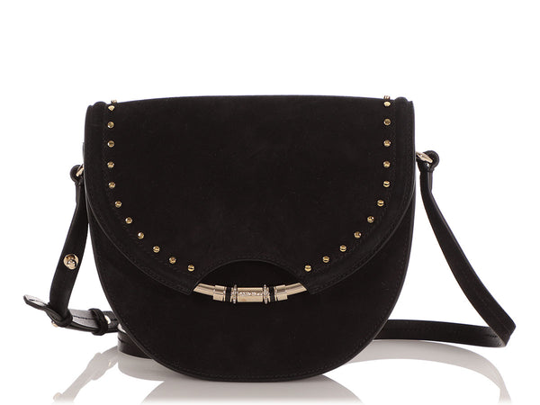 Jimmy Choo Black Suede Chrissy Crossbody Bag