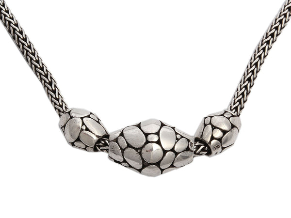 John Hardy Sterling Trio Elliptical Choker