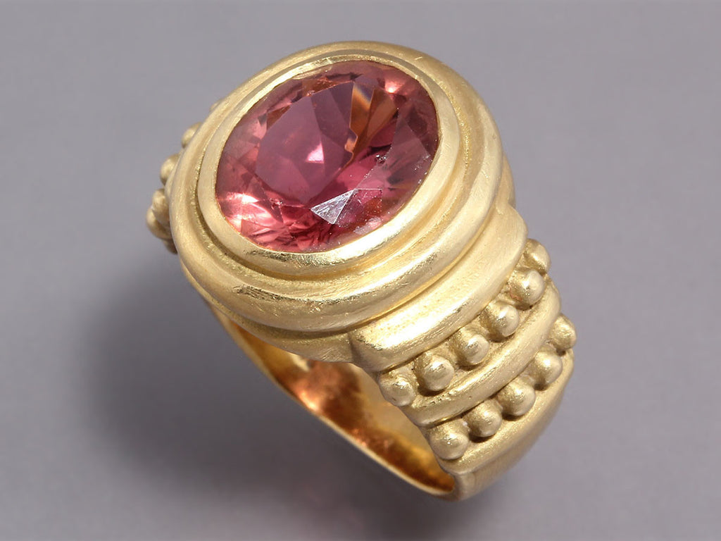Judith Ripka Peach Tourmaline Ring