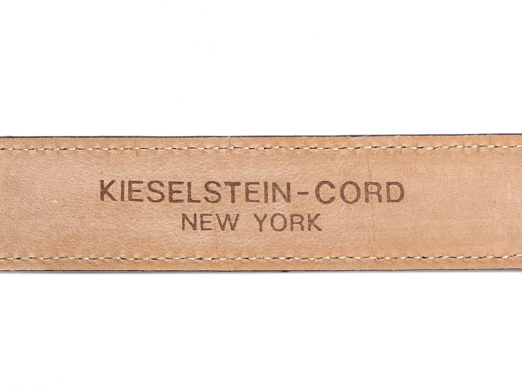 Kieselstein-Cord Shiny Black Alligator Belt
