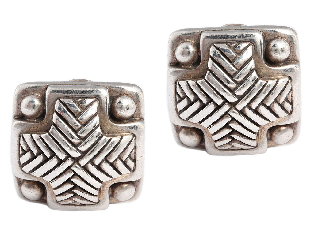 Kieselstein-Cord Large Sterling Clip Earrings