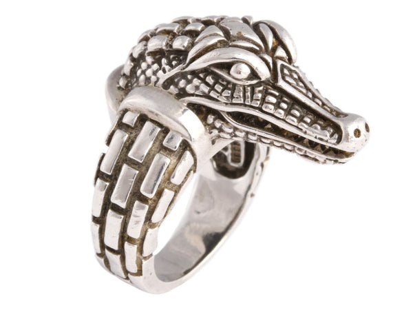 Kieselstein-Cord Alligator Head Ring