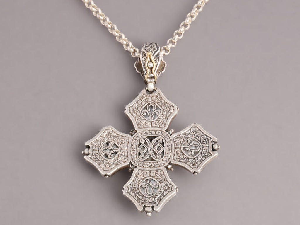 Konstantino Aura Byzantine Cross Necklace