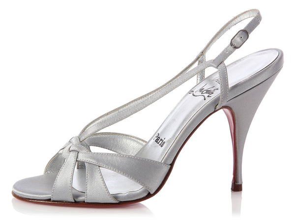 Louboutin Silver Lady 100 Sandals
