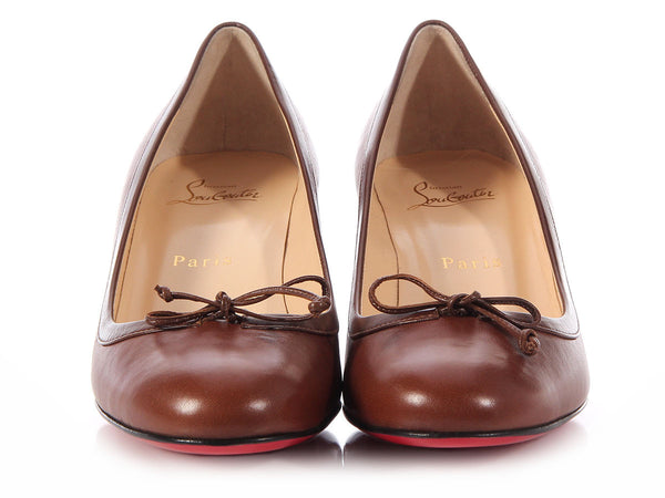 Louboutin Brown Marcia Balla 45 Pumps