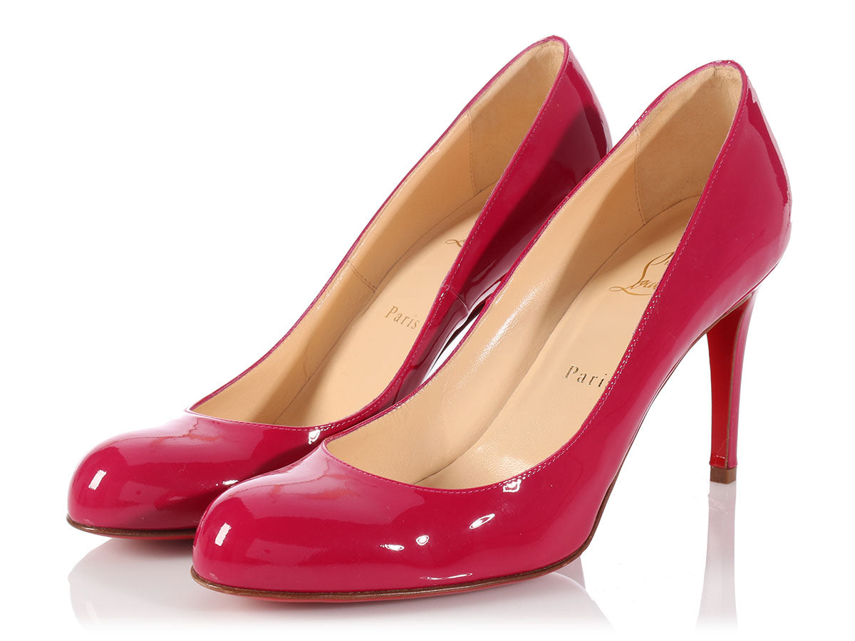 40d07ae5e35 Louboutin Fuchsia Patent Simple Pumps