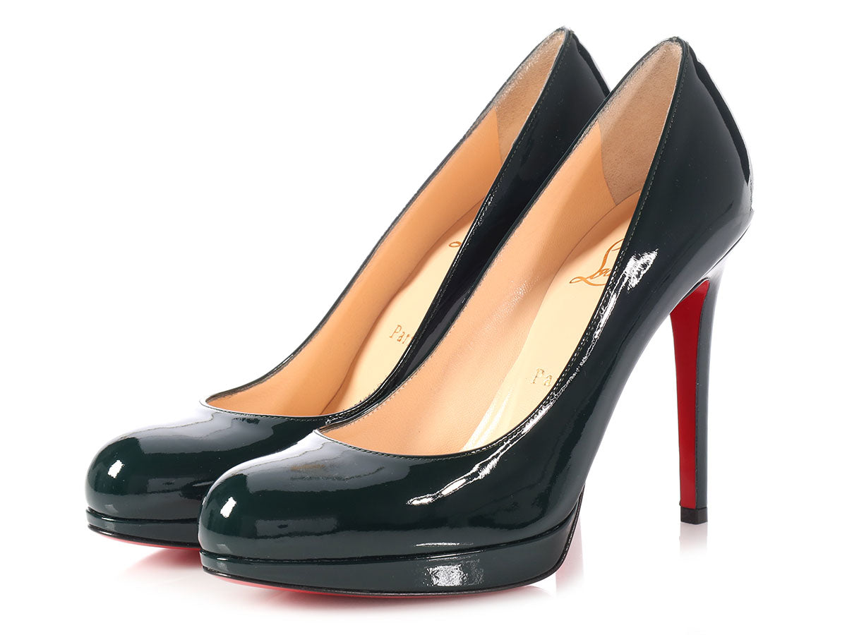 f50f2833e6f Christian Louboutin English Green Patent New Simple Pump 120 - Ann s ...