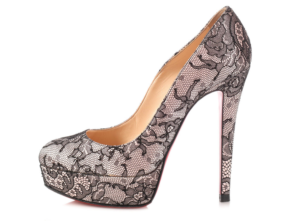 Christian Louboutin Lace Bianca 140 Pumps