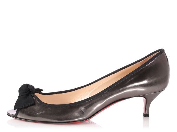 Christian Louboutin Pewter Legionana 45 Pumps