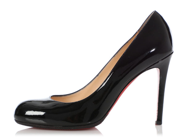 Christian Louboutin Black Patent Simple 100 Pumps