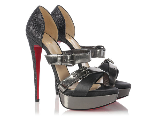 Louboutin Graphite Ambertina Sandals
