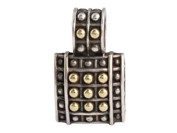 Lagos Two Tone Caviar Dot Pendant