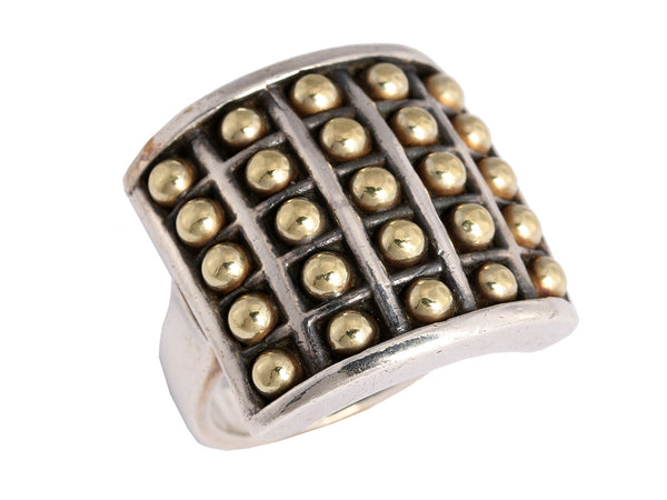 Lagos Two-Tone Caviar Ring