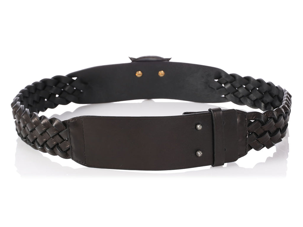 Lanvin Crystal Tiger Head Belt