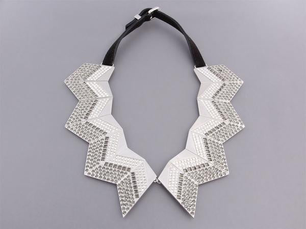 Louis Vuitton Crystal Zig Zag Necklace