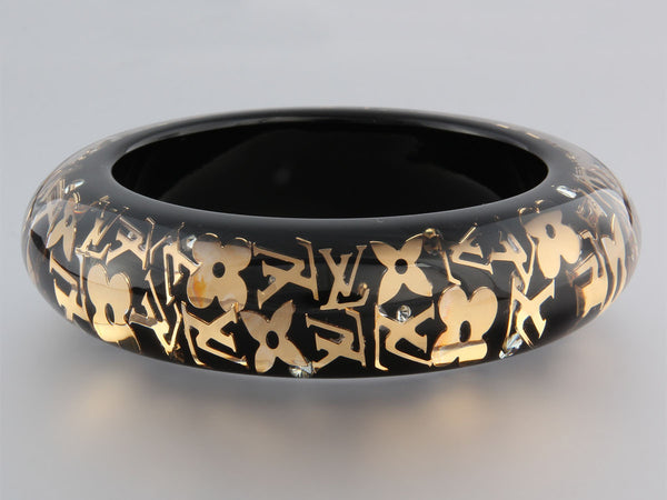 Louis Vuitton Black Inclusion Bangle GM