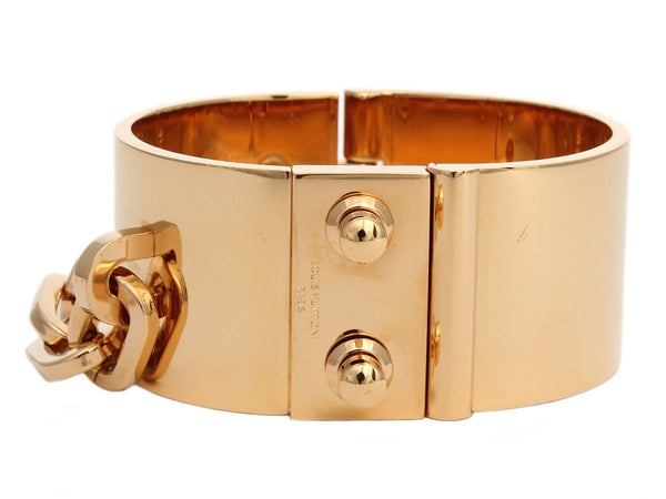 Louis Vuitton Gold Lock Me Bracelet